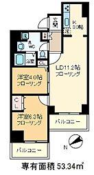 東京都北区上十条1丁目の賃貸マンションの間取り