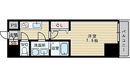 レジュールアッシュ北大阪GRANDSTAGE[8階]の間取り