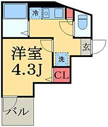 JR総武線 船橋駅 徒歩14分の賃貸アパート 3階1Kの間取り