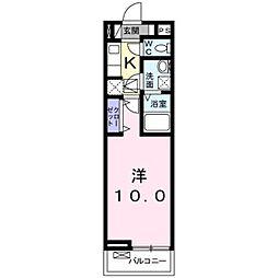 近鉄南大阪線 恵我ノ荘駅 徒歩8分の賃貸アパート 1階1Kの間取り