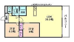 CENTRALCOURTII[6階]の間取り