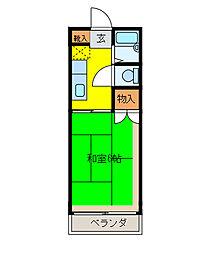 ドミール石栄[2階]の間取り
