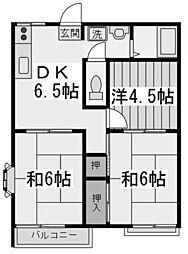 ブライトハイムB[2階]の間取り