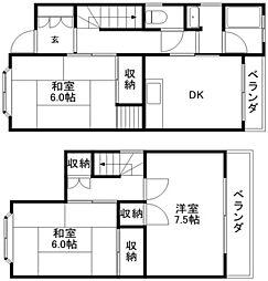 [テラスハウス] 滋賀県守山市守山3丁目 の賃貸【/】の間取り