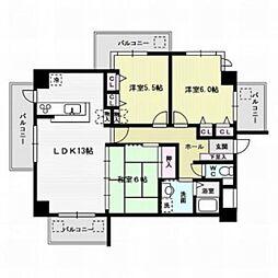 グリーンマンション博多南[3階]の間取り