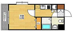 ピュアドームブライトン博多[4階]の間取り