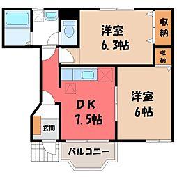 サニーフォレスト[1階]の間取り
