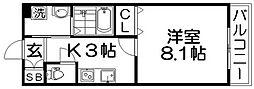 CREA甲斐田東町[2階]の間取り