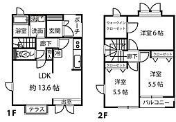 [テラスハウス] 神奈川県横浜市都筑区中川5丁目 の賃貸【/】の間取り