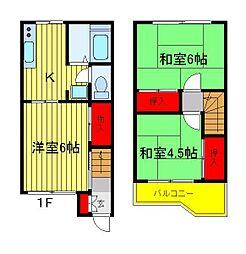 [テラスハウス] 千葉県流山市向小金1丁目 の賃貸【/】の間取り