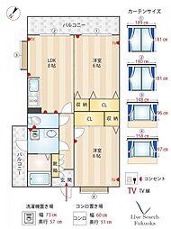 アーバン川嶋II[9階]の間取り