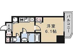 プレサンス上町台クレスト[5階]の間取り