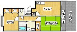 ピジョットハウス[1階]の間取り