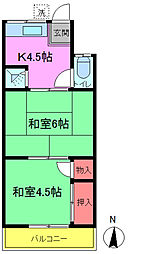槙荘[2-5号室]の間取り