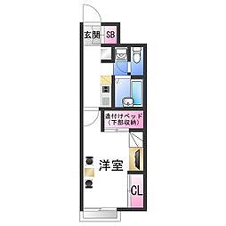 南海加太線 八幡前駅 徒歩20分の賃貸アパート 1階1Kの間取り