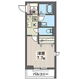 仮)練馬区石神井町1丁目シャーメゾン 2階1Kの間取り