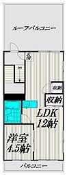 東京都杉並区下高井戸3丁目の賃貸マンションの間取り