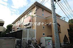 東京都目黒区東が丘2丁目の賃貸アパートの外観