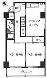 東京メトロ日比谷線 小伝馬町駅 徒歩4分の賃貸マンション 7階2DKの間取り