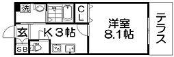 CREA甲斐田東町 1階1Kの間取り