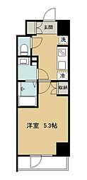 グラード久米川 6階1Kの間取り