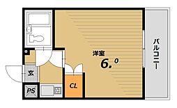 グローリーマンション[3階]の間取り