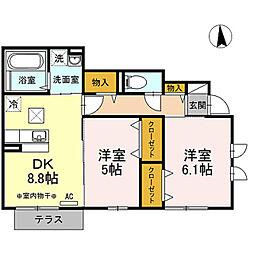 カルム3[1階]の間取り