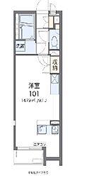 JR東北本線 蓮田駅 徒歩15分の賃貸アパート 1階ワンルームの間取り