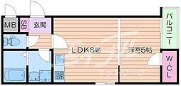 HR・FRONT・REGAL城北[2階]の間取り