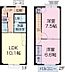 間取り,2LDK,面積59.62m2,賃料6.0万円,JR東海道本線 浜松駅 6.6km,,静岡県浜松市中区和合町
