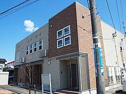 富山県富山市婦中町下轡田の賃貸アパートの外観