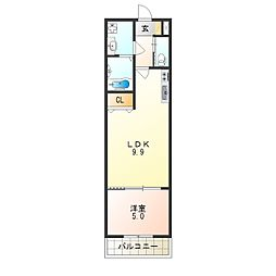 Osaka Metro千日前線 南巽駅 徒歩5分の賃貸アパート 2階1LDKの間取り