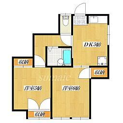 結城アパート[1階]の間取り
