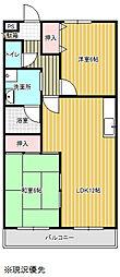 愛知県豊橋市草間町字東山の賃貸アパートの間取り