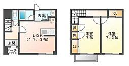 [テラスハウス] 愛知県岡崎市東大友町字位式 の賃貸【/】の間取り