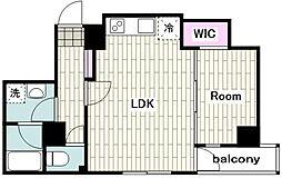 東急東横線 反町駅 徒歩1分の賃貸マンション 5階1LDKの間取り