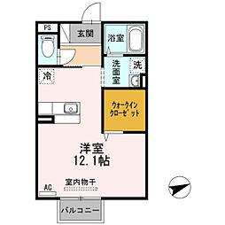 セゾン B棟[2階]の間取り