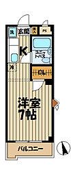 キャッスル笠間I[201号室]の間取り