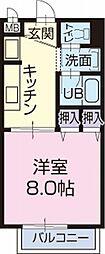 愛知県刈谷市井ケ谷町寺山下の賃貸アパートの間取り