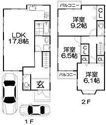 [一戸建] 大阪府枚方市長尾台4丁目 の賃貸【/】の間取り