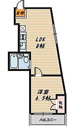 シャロームアトム[4階]の間取り
