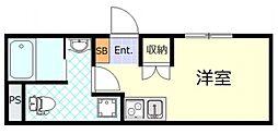 サザンゲート蒲田 1階ワンルームの間取り