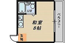 JPアパートメント堺[4階]の間取り