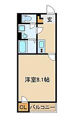 JR武蔵野線 新座駅 徒歩19分の賃貸アパート 2階1Kの間取り