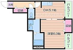 ヒルズ桜宮[2階]の間取り