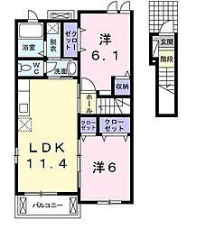 ルミナス Ⅱ[2階]の間取り