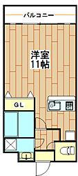 Liguria弐番館[3階]の間取り