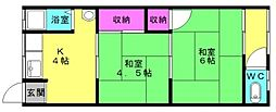 かつら荘[9号室]の間取り