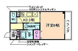 ブラン福島[4階]の間取り