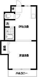 第13島田マンション[1階]の間取り